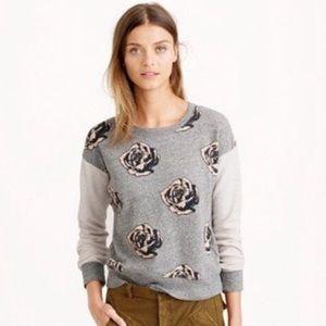 Used, J.Crew Pop Arts Floral SweatshirtNWT for sale